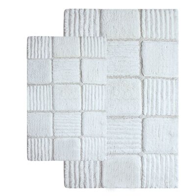 Chesapeake Merchandising Inc. Checkerboard Contemporary Bath Rug