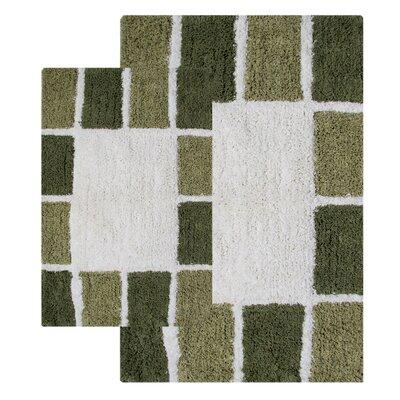 Chesapeake Merchandising Inc. Mosaic Tiles 2 Piece Bath Rug Set