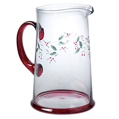Winterberry Glass Water Pitcher by Pfaltzgraff