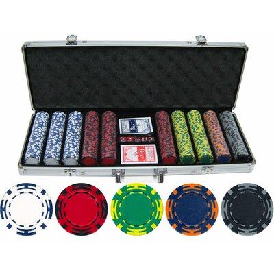 JP Commerce 500 Piece Z Striped Clay Poker Chip Set