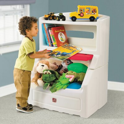 Step2 Lift and Hide Bookcase Toy Box with Lid