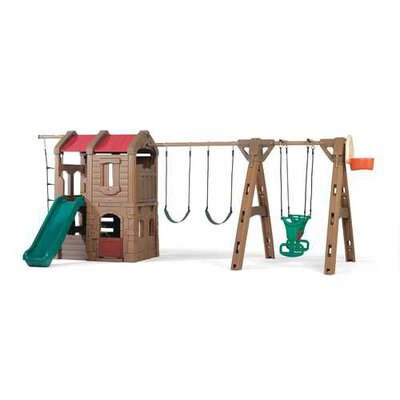 "88.5"" x 201"" Adventure Lodge Play Center Swing Set Product Photo"