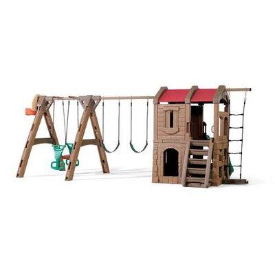 "Step2 88.5"" x 201"" Adventure Lodge Play Center Swing Set"