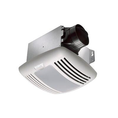 BreezGreenBuilder 50 CFM Energy Star Bathroom Fan with Light by Delta Breez