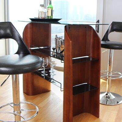 Ladder Bar Set with Wine Storage by LumiSource