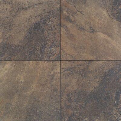 """Daltile Aspen Lodge 6.25"""" x 6.25"""" Porcelain Field Tile in Midnight Blaze"""