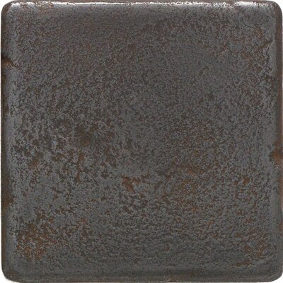 "Daltile Castle Metals 4"" x 4"" Decorative Wall Tile in Wrought Iron"