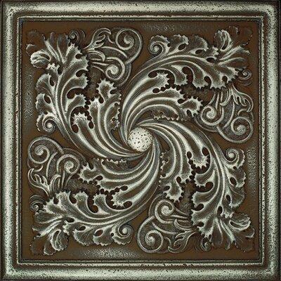 "Daltile Metal Signatures Artesia Mural 12"" x 12"" Decorative Tile in Aged Iron"