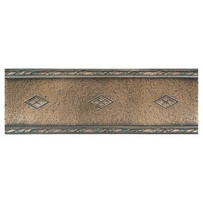 "Daltile Metal Signatures Diamond Weave 12"" x 4"" Floor Border in Aged Bronze"