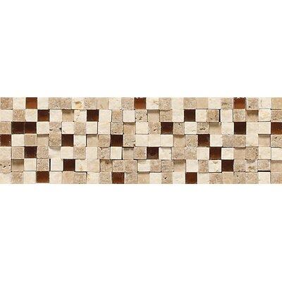 """Daltile Fidenza 9"""" x 2"""" Stone and Glass Accent Decorative Border"""