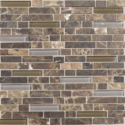 Daltile Stone Radiance Random Sized Slate Mosaic Tile in Brown