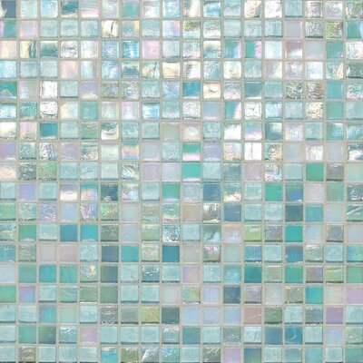 """Daltile City Lights 0.5"""" x 0.5"""" Glass Mosaic Tile in South Beach"""