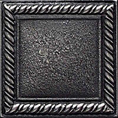 "Daltile Ion Metals 2"" x 2"" Decorative Rope Accent Tile in Antique Nickel"