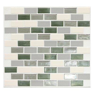 "Daltile Keystones Blends 1"" x 2"" Porcelain Mosaic Tile in Caribbean Palm"