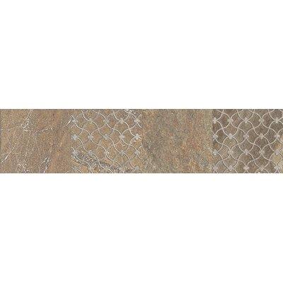 "Daltile Ayers Rock 13"" x 3"" Unpolished Decorative Border in Bronzed Beacon"