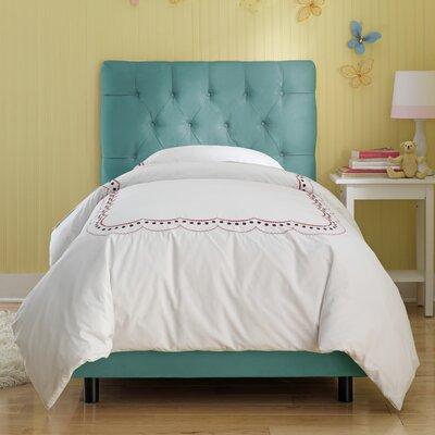 Skyline Furniture Tufted Premier Microsuede Upholstered Bed