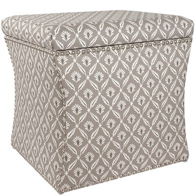 Clover Nail Button Storage Ottoman by Skyline Furniture