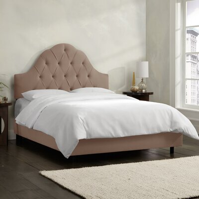 Velvet Upholstered Panel Bed by Skyline Furniture