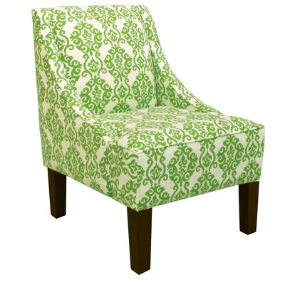 Swoop Arm Chair in Luminary Emerald by Skyline Furniture