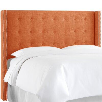 Tufted Polyester Wingback Headboard by Skyline Furniture