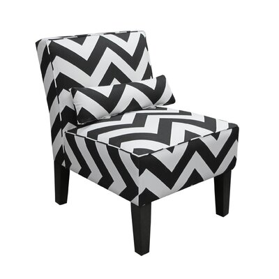 Zippy Upholstered Slipper Armless Chair by Skyline Furniture