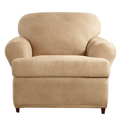 Stretch Leather Chair T-Cushion Slipcover by Sure Fit