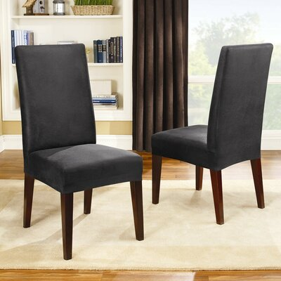Stretch Leather Collection Short Dining Chair Slipcover by Sure Fit