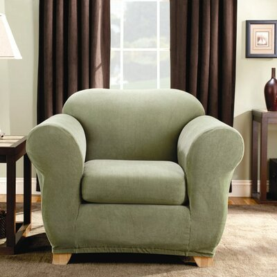 Sure-Fit Stretch Stripe Two Piece Chair Slipcover