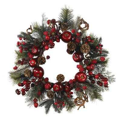 Apple Berry Wreath Red and Green
