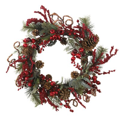 Nearly Natural Assorted Berry Wreath