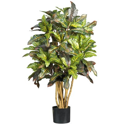Croton Tree in Pot by Nearly Natural