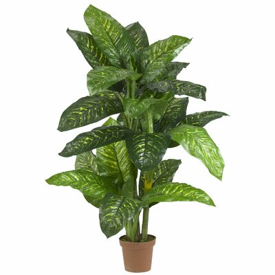 Nearly Natural Dieffenbachia Silk Floor Plant in Pot