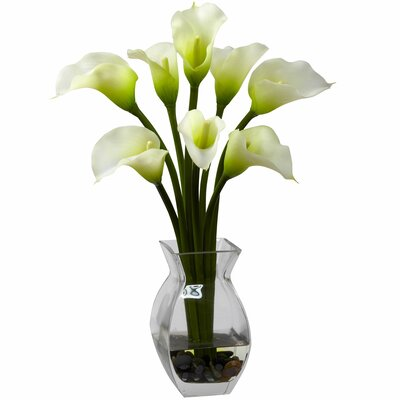 Nearly Natural Classic Calla Lily in Vase