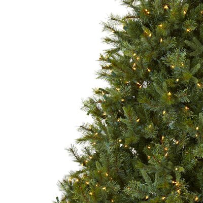 Nearly Natural Nearly Natural 7.5' Green Majestic Multi-Pine Artificial Christmas Tree with 650 Clear Light with Stand