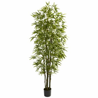 Green Bamboo Tree in Pot by Nearly Natural