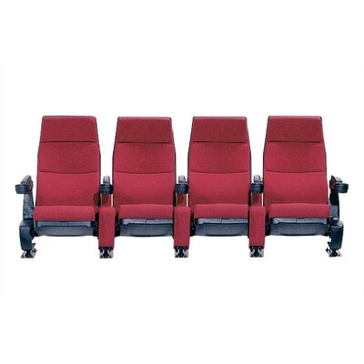 Bass Regal Row of Four Movie Theater Chairs