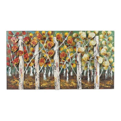 Autumn Birch Graphic Art on Canvas by Sterling Industries