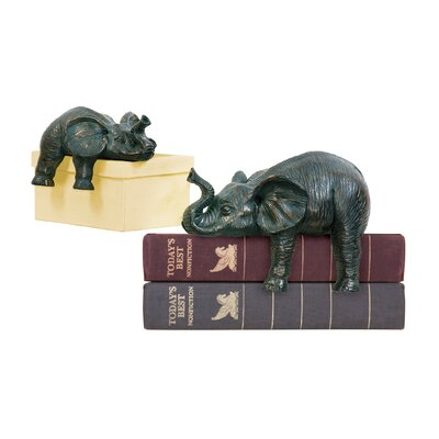 Sterling Industries 2 Piece Sprawling Elephant Figurine Set