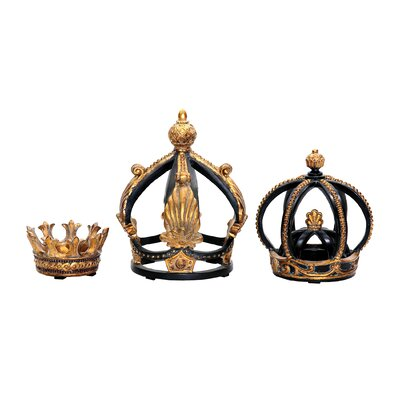3 Piece Crown Sculptures by Sterling Industries