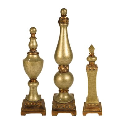 3 Piece Lisbon Finial Sculptures by Sterling Industries