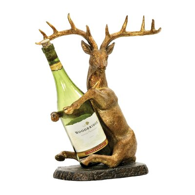 Sterling Industries Deer 1 Bottle Tabletop Wine Rack