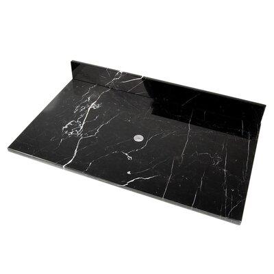 "D'Vontz Natural Stone 31"" Stone Vanity Top for Vessel Sink"