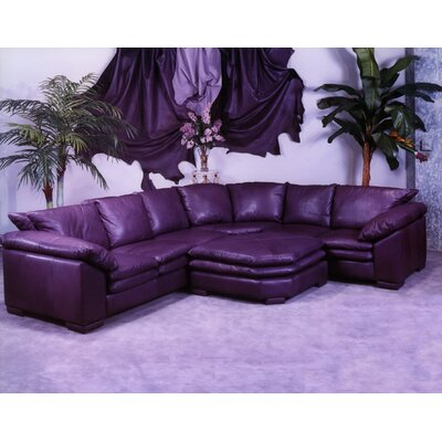 Fargo Leather Sectional by Omnia Furniture