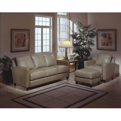 Omnia Furniture Skyline Leather Sofa