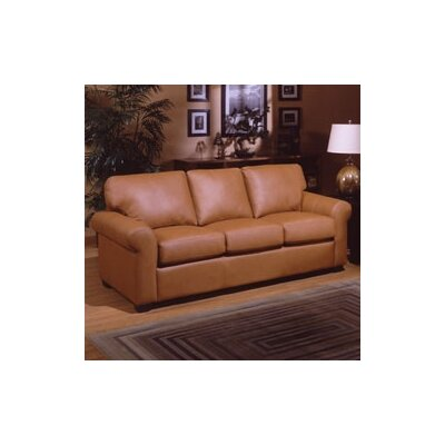 West Point Leather Sleeper Sofa by Omnia Furniture