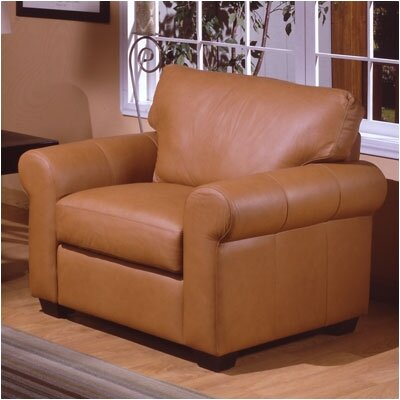 West Point Leather Chair by Omnia Furniture