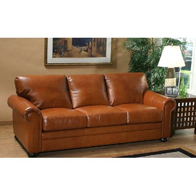 Georgia Leather Sofa by Omnia Furniture