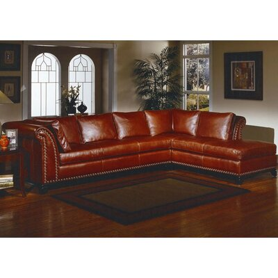 Kingsley Leather Sectional by Omnia Furniture