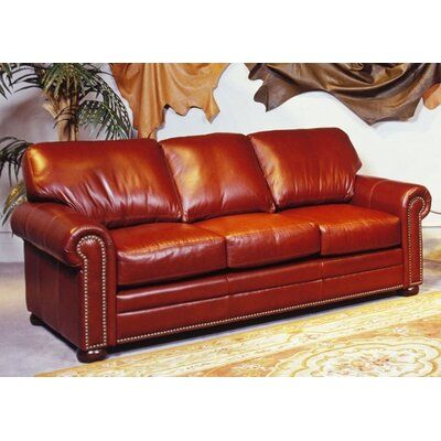Savannah Full Leather Sleeper Sofa by Omnia Furniture