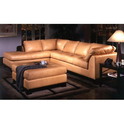 Espasio Leather Sectional by Omnia Furniture